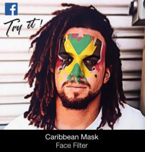 trinida tobago jamaica face filter caribbean mask kribbean